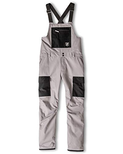 Chamonix Cheval Cargo Bib Mens Snowboard Pants Grey/Black Sz M