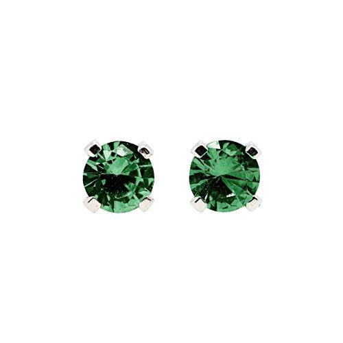 3mm Tiny Birthstone Gemstone Post Stud Earrings in Sterling Silver...