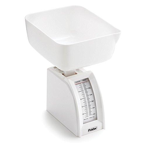 Polder 77-90 Diet Utility Food Scale, 18 oz./500 g Capacity, White
