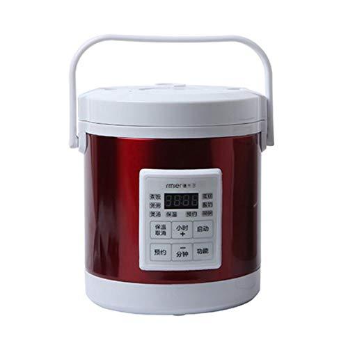 WPJ 1.6L Auto Reiskocher 12V 24V Multi Kocher Dampfgarer Mini Reiskocher Elektrische Suppenbrei-Kochmaschine mit Messbecher Warmhaltefunktion Premium Qualität Innentopf