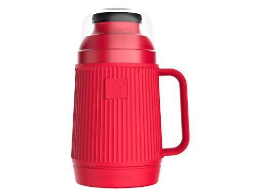 Termo de 500 Mililitros para bebidas calientes o frias con larga duracion termica, color Rojo