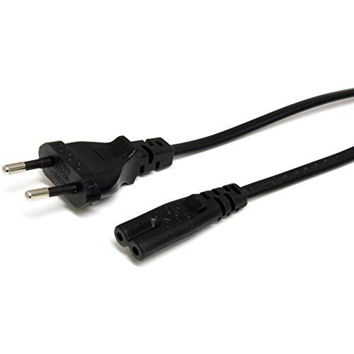 StarTech.com PXTNB2SEU1M - Cable de alimentación estándar, Cable Europeo a C7 para Ordenador portátil, Negro