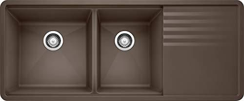 "BLANCO 440399 Precis Silgranit 48"" Double Bowl Undermount Workstation Sink, 6.00 x 6.00 x 6.00 inches, Café Brown"