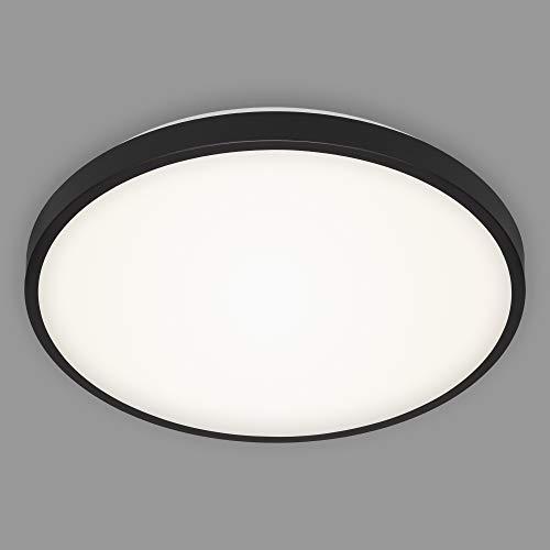 Briloner Leuchten - LED Deckenleuchte, Deckenlampe, 24 Watt, 2.200 Lumen, 4.000 Kelvin, Schwarz-Weiß, Ø 38,5cm, 3455-215