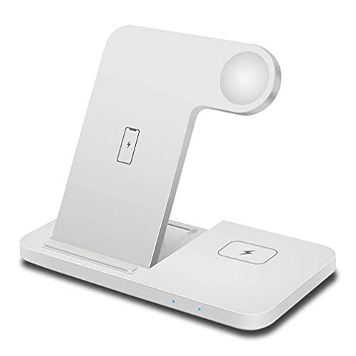 CloverGorge Auricular reloj plegable tres en uno base de carga rápida inalámbrica para iPhone