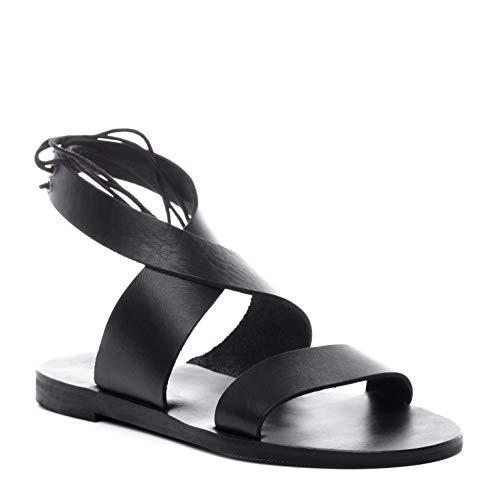 BACCINI sandale cuir CARA 39 EU nu-pieds claquette noir