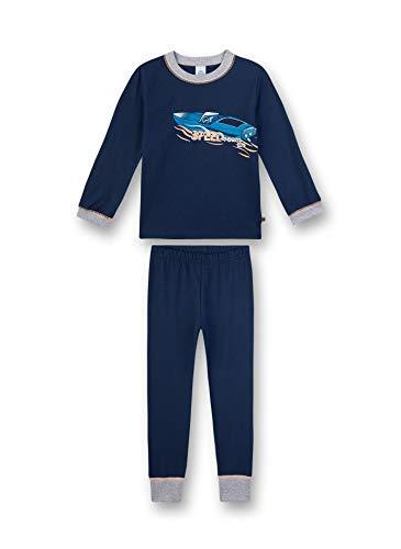 Sanetta Jungen Pyjama lang Zweiteiliger Schlafanzug, Blau (blau 5193), (Herstellergröße:104)