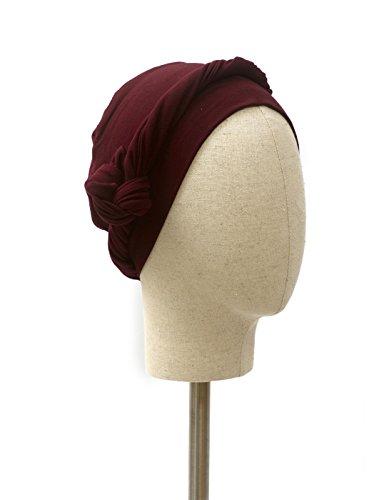 Belle Turban B-Jade Pañuelo para la Cabeza, Morado (Burgundy 0), One Size (Tamaño del fabricante:One Size) para Mujer
