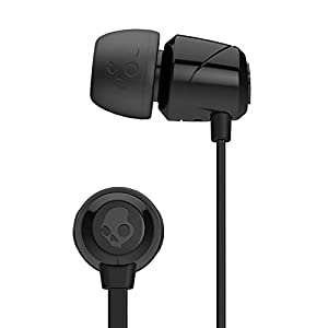 Skullcandy Jib In-Ear Noise-Isolating Earbuds, Lightweight, Stereo Sound and Enhanced Base, Wired 3.5mm Jack Connectivity, Black