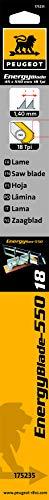 Peugeot 175235hoja para sierra ingletadora manual (550mm madera/PVC/Alu 18TPI) 550mm