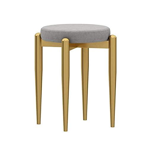Muebles Silla de comedor, Taburete de maquillaje para el hogar, Cómoda silla de recepción para conferencias, Taburete de hierro para tocador pequeño para apartamentos pequeños, para sala de estar