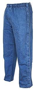 Funny Guy Mugs Tearaway Jeans - Premium Breakaway Pants - Elastic Waist Faux Denim Pants (Light Blue, Large)