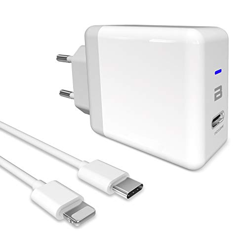 BTRONGROUP Caricatore Compatible con iPhone 12 11 PRO Max XS Max XR X 8 iPad PRO 2018 iPad Air 2019 e Altri dispositivi, Carica batterie USB C PD Ricarica Rapida PD Charge