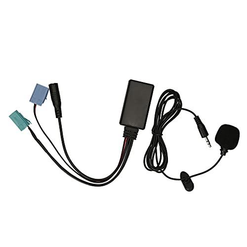 Fesjoy Audio estéreo para Coche,Car Stereo BT 5.0 Audio Music Adaptador Llamada telefónica Manos Libres AUX-IN ISO 6Pin Reemplazo para Renault Radio Updatelist