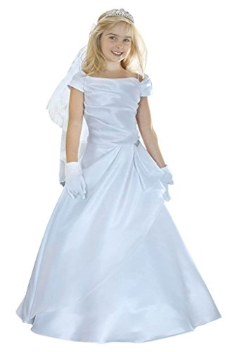 iGirlDress Angels Garment Big Girls White First Communion Long Dress White 1756 Size 8