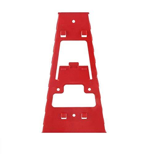 Organizador de llaves de plástico Bandeja de enchufes Soporte de herramientas de almacenamiento Soportes estándar Estante para llaves Clasificador de llaves inglesas, rojo