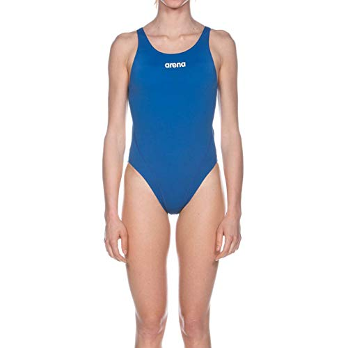 Arena W Solid Swim Tech High, Costume Sportivo Donna, Blu (Royal/White), 42 IT