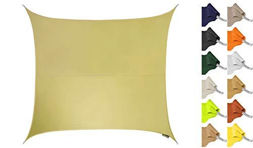 Kookaburra Tenda a Vela Quadrata 5,4m per Feste Resistente all\'Acqua Protezione Anti Raggi 96.5{6d16eaa46f60781662035d4b4d44bcd5fffe6f4aa5ffc88e820784a4e0e482fd} UV per Ombreggiare Il Giardino, Terrazzo o Balcone (Sabbia)