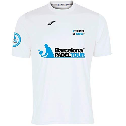 Barcelona Padel Tour | Maglietta Tecnica Manica Corta Joma Gusta El Padel Uomo | Stampaggio Speciale Paddle | Tocco Morbido e Asciugatura Rapida | Abbigliamento Sportivo