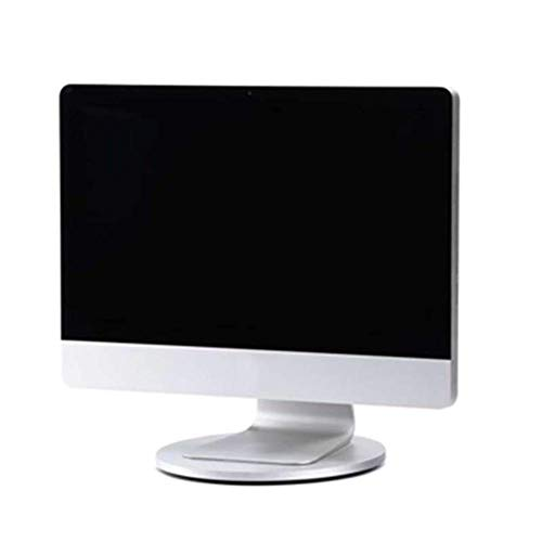 Aluminum Computer Monitor Stand Riser,laptop And Screen Stand Rotate 360 Degrees,for Computers Imac Laptops Tvs Silver 28 X 28 X 2.1 Cm aycpg
