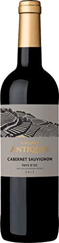 Collines Antiques - Vino tinto cabernet sauvignon, IGP Pays d'Oc, añada 2017, 750 ml