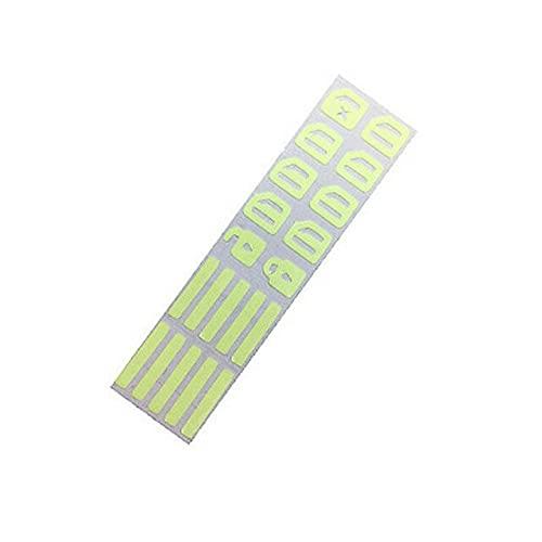 Etiqueta engomada luminosa del botón de la puerta de seguridad de la noche de las calcomanías fluorescentes del interruptor del coche etiqueta engomada para
