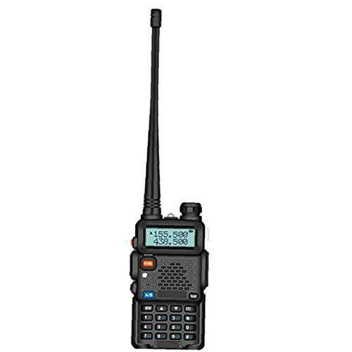 YepYes Baofeng UV-5R Radio de Dos vías para Adulits de Largo Alcance Receptor Handheld para Acampar al Aire Libre la Supervivencia del Campo (Enchufe de la UE)