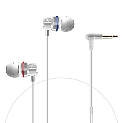 Orzero Earbuds Compatible for Oculus Quest 2, Oculus Rift S VR Headset, Upgraded Durable Graphene Speakers 3D 360° Surrounding High Clarity Sound with Custom Non-Disturbing Length - White