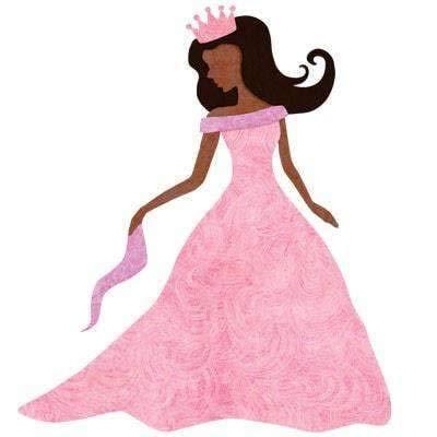 Black Princess Sticker/Brown Princess Decal for Princess Room Wall Decor Brown Skin/Black Hair/African American Princess/Brown Princess/Indian Princess/Latina Princess