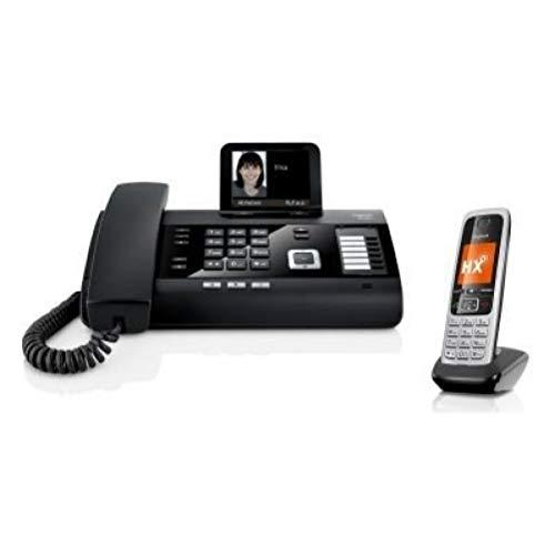 Gigaset DL500A Büro Telefon mit Anrufbeantworter + C430HX Universal Mobilteil - DECT Telefone mit großem Display, Freisprechfunktion, großem Telefonbuch