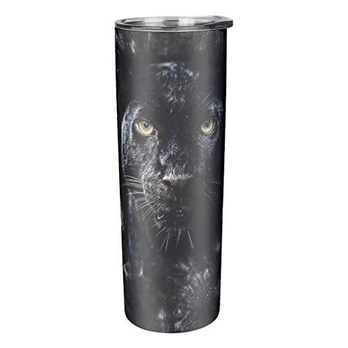 Niersensea Tazas de acero inoxidable con aislamiento al vacío, taza de viaje con tapa y paja, botella de viaje, taza de café, taza térmica blanca de 600 ml