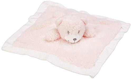 Kuscheltuch Bär (rosa): H= 22,5 cm, Nickistoff + Plüsch, per Stück