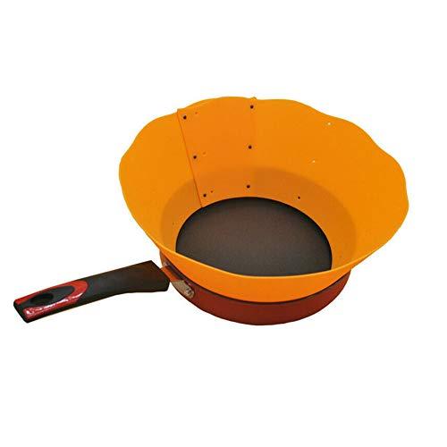 feeilty Bratschutz Spritzschutz Antihaft-verstellbar Silikon spritzwassergeschützt Küchenzubehör Orange
