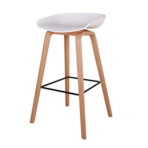 Sgabelli da bar moderni, sedie per bar, ristoranti, caffè, casa, cucina, sala da pranzo, sedile in plastica PP, gambe in metallo, altezza seduta 73 cm, bianco