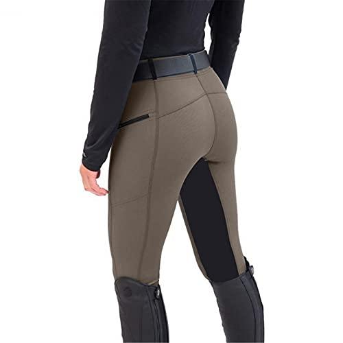 WANGSHE Reithose für Damen, hohe Taille, Komfort und Stil, coffee, M