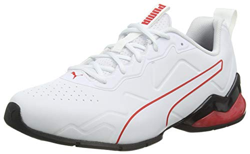 PUMA Cell Valiant SL, Zapatillas para Correr de Carretera Hombre, Blanco White Black/High Risk Red, 43 EU