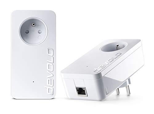 Devolo 9377 Power Lan-Adapter (Homeplug, DLAN, 1200 Mbit/s, 1 Anschluss) 2 Stück (Niederländische Version)