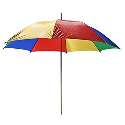 LHS parasol paraplu strandscherm scherm kleurrijk met standaard en greep 130cm Ø