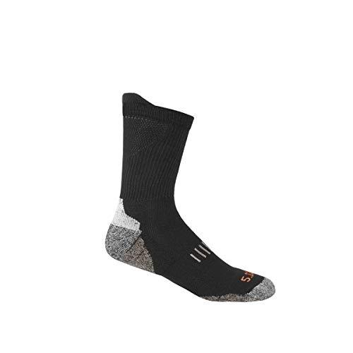 5.11 Tactical All Year Crew Socks - Black - Small/Medium