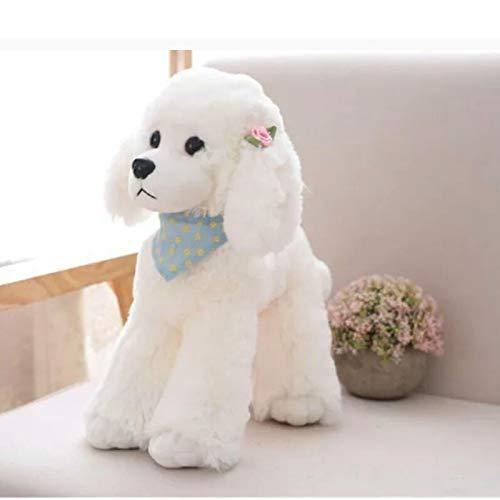 Muñeco de Peluche muñeco Almohada Regalo de cumpleaños 30cm [0.37kg] Perro caniche: Blanco