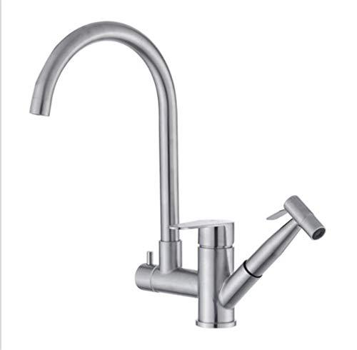 Waschtischarmaturen Küchenarmaturen Waschraumarmaturen Edelstahlrinne Zieht Spritzpistole Multifunktions-Küchenarmatur Kalten Und Heißen Spülbecken Becken Wasserhahn
