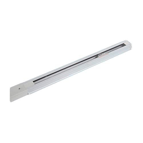Foco LED De Seguimiento Dedicado Dos Líneas Tira De Pista Cuadrado Negro Cantidad Blanca 100cm 150cm 200cm Accesorios De Luz De Pista (Color : White)