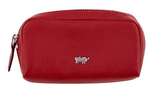 BRAUN BÜFFEL Schlüsseletui Golf 2.0 aus echtem Leder - M Zip - rot