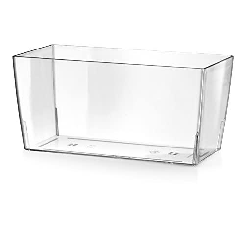 Teraplast Maceta 10447030, 30 x 15 x 14 cm, Transparente