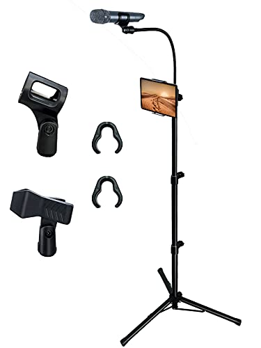 Bulalu Microphone Stand,Mic Stand with Adjustable Height Up To 6...