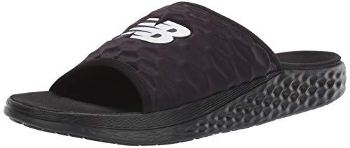New Balance Men's Fresh Foam Hupo'o V1 Slide Sandal, Black/Orca, 7 M...