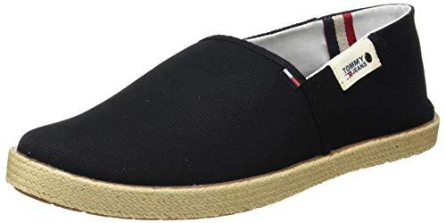 Tommy Hilfiger Tommy Jeans Summer Shoe, Mocasines Hombre, Negro (Black Bds), 43 EU