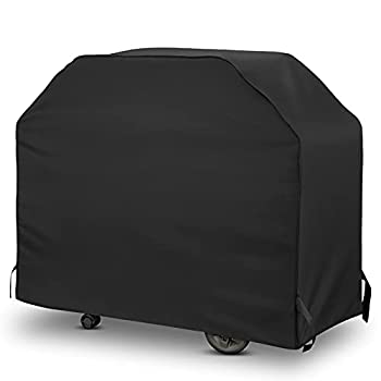 Amigro Grill Cover 50-Inch Heavy Duty Waterproof Gas Grill Cover Outdoor Fade Resistant Small Grill Cover All Weather Protection Barbecue Cover with Adjustable Straps 50  W x 22  D x 40  H Black