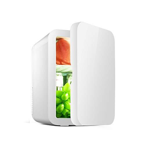 Car Réfrigérateur-8L Voiture Petit Réfrigérateur Portable Maison Étudiant Dortoir Fruit Masque Cosmétiques De Stockage De Réfrigérateur Réfrigérateur Voiture refrigerato (Color : White)