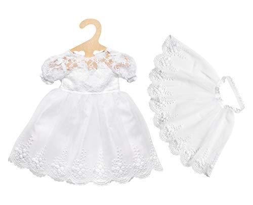 Heless 2020 - Brautkleid Sissi mit Schleier, für Puppen, Größe 35 - 45 cm, für eine rauschende Puppenhochzeit